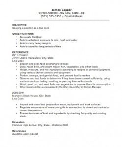 10 Sample Of Cook Resume Templates Grill
