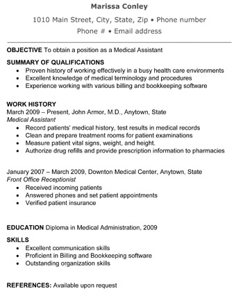 Medical Resume Templates Free Medical Assistant Resume Word Format