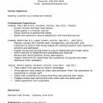 Hostess-Host Resume