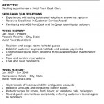 Hotel Front Desk Clerk Resume